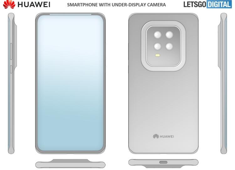 Huawei планирует использовать рамку вокруг дисплея смартфонов для вывода системных значков