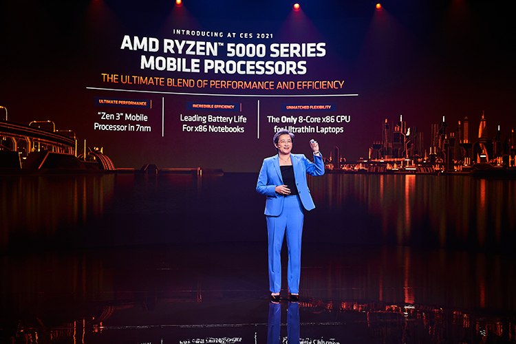 AMD unveils Ryzen 5000 mobile processors