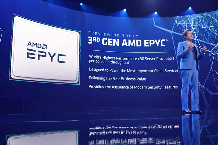 AMD has shown how EPYC runs on Zen 3 and promised more details later