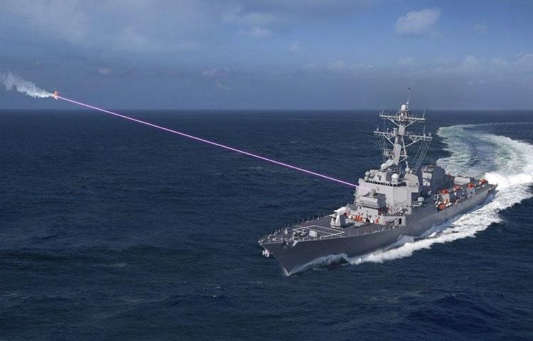 Компьютерное изображение работы лазера HELIOS. Источник изображения: Lockheed Martin