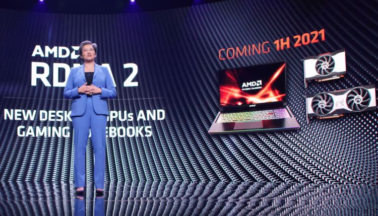 AMD to release RDNA 2 mobile graphics cards this half year