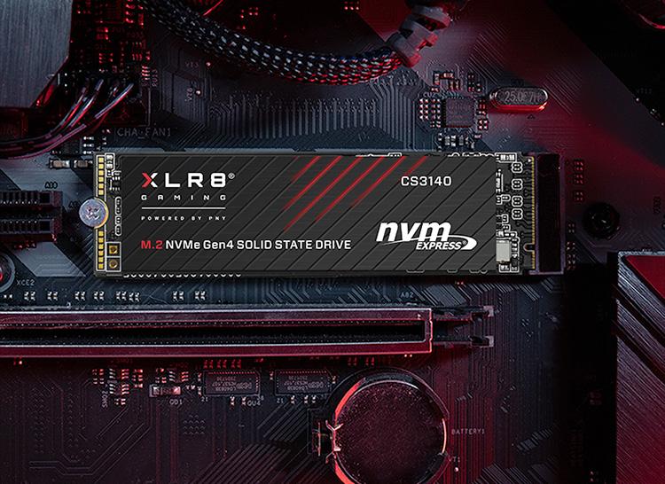 PNY представила самый быстрый потребительский SSD — XLR8 CS3140 со скоростью чтения 7,5 Гбайт/с