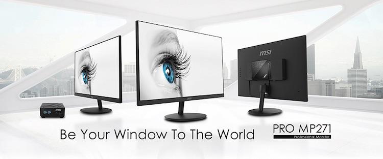 MSI представила мониторы PRO MP271 для рабочих систем, которые не нагружают глаза