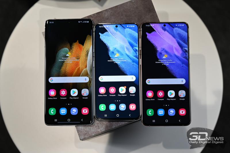 Первый взгляд на Samsung Galaxy S21, Samsung Galaxy S21+ и Samsung Galaxy S21 Ultra