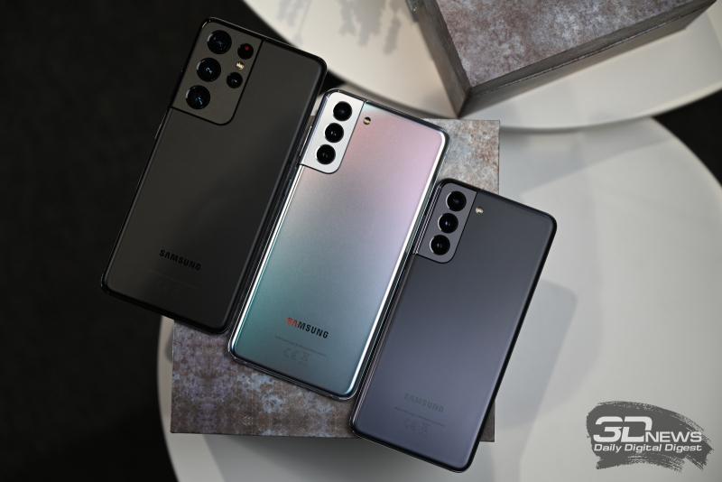Samsung Galaxy S21 Ultra, Samsung Galaxy S21+ и Samsung Galaxy S21