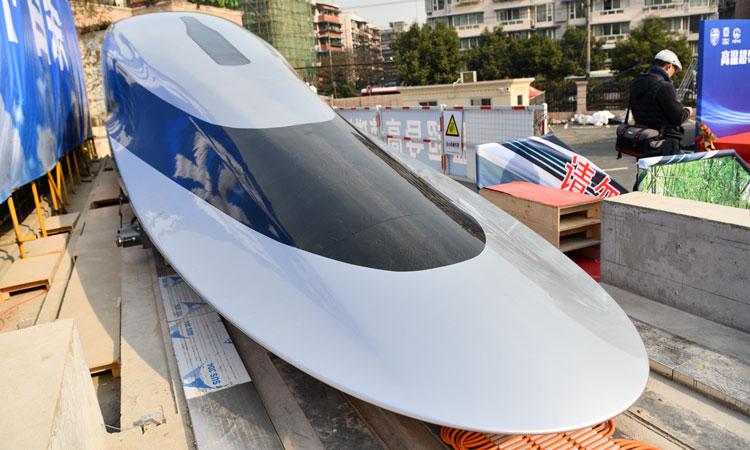 Прототип маглев-поезда с использлванием высокотемпературной сверхпрводимости. Источник изображения: globaltimes.cn/IC