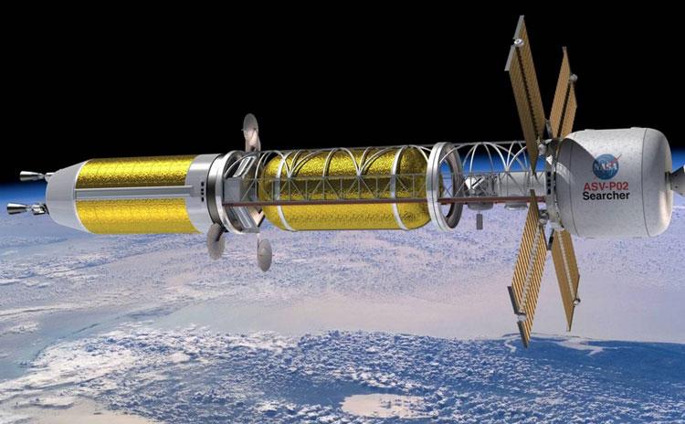 Проект ракеты NASA с ядерным тепловым двигателем. Источник изображения: NASA