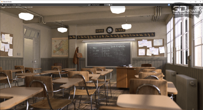 Blender 2.91.0 classroom (аккумулятор)