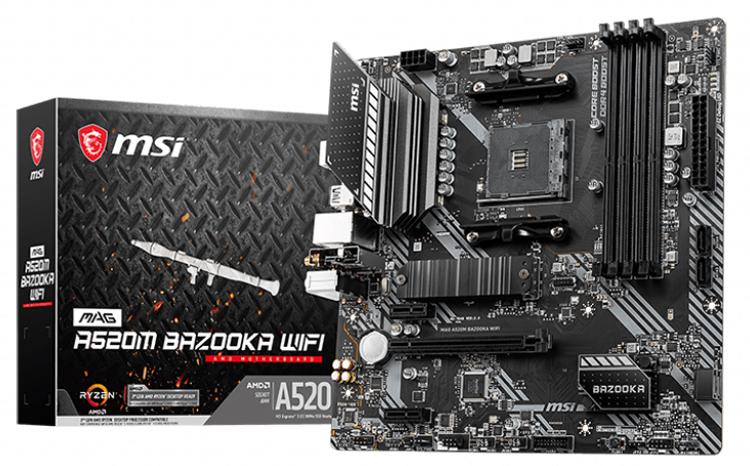 MSI выпустила платы MAG A520M Bazooka WiFi и MAG B550M Vector WiFi для процессоров AMD