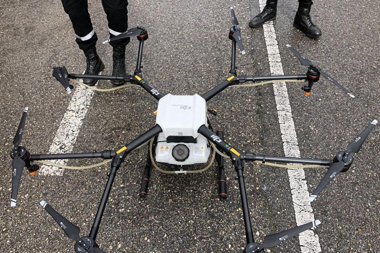Сельскохозяйственный дрон DJI Agras MG1. Источник изображения: Handout