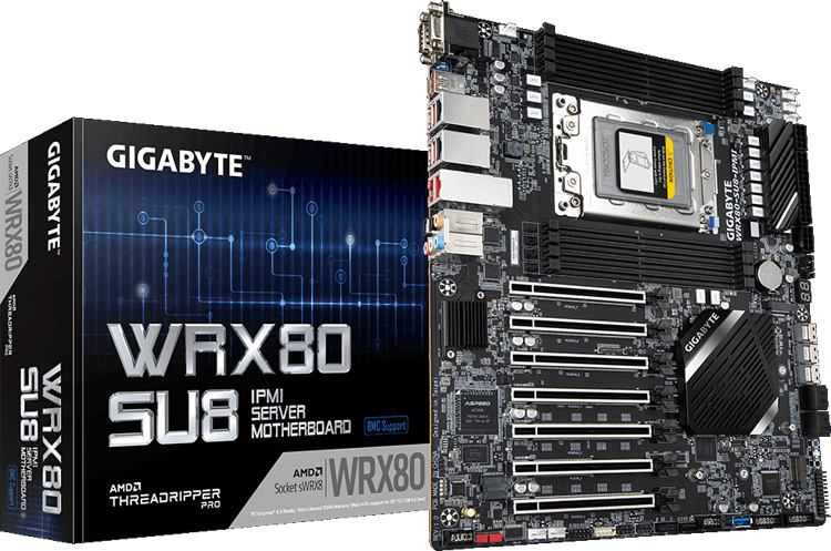 GIGABYTE unveils WRX80-SU8-IPMI board for AMD Ryzen Threadripper PRO