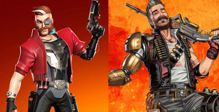 Охотник из BulletVille слева, Фьюз из Apex Legends — справа