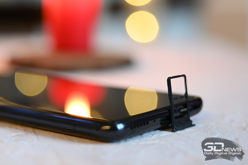 Xiaomi Mi 10 Ultra, слот для SIM-карты