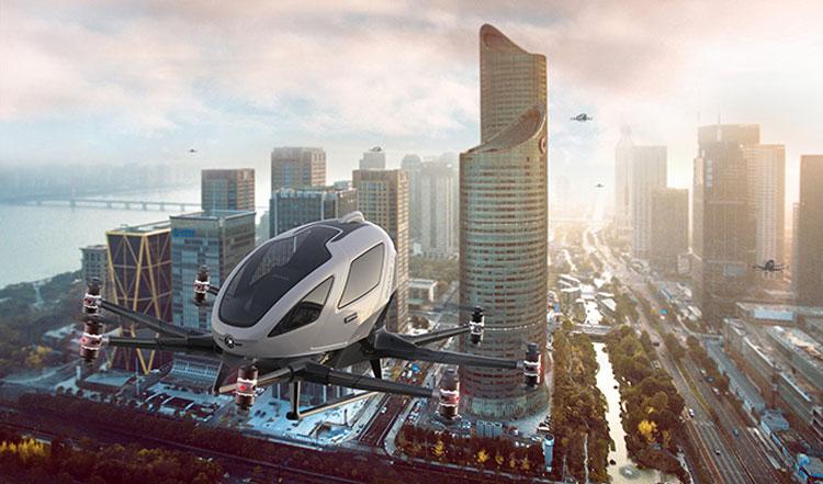 """Китайские аэротакси покажут себя во всей красе в небе европейских городов"""""""