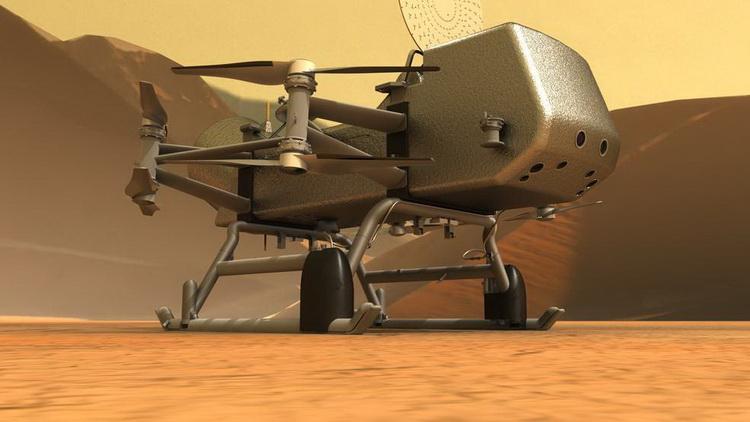 Концепция воздушного дрона для изучения Титана. Источник изображения: NASA