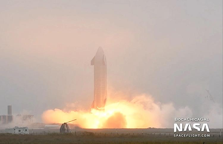 SpaceX снова провела огневые испытания двигателей Starship SN9  запуск состоится на днях