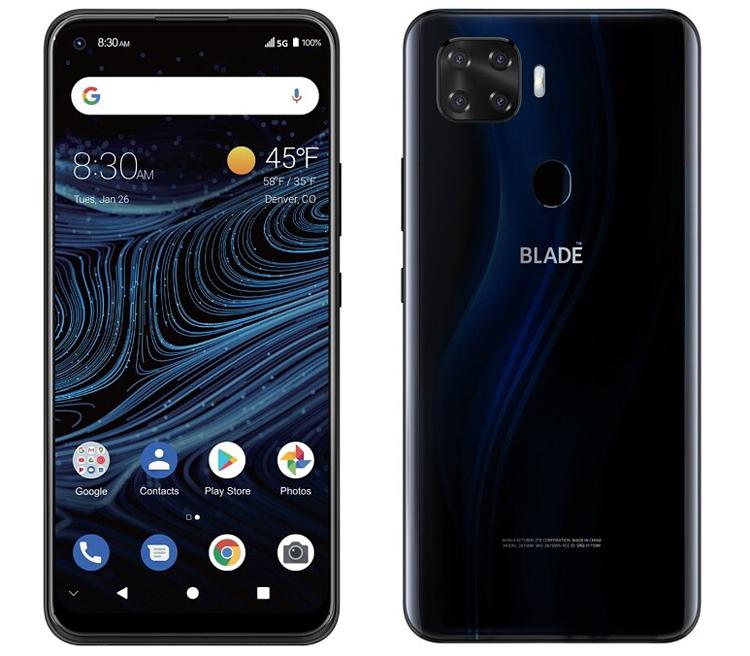 Смартфон ZTE Blade X1 с поддержкой 5G получил квадрокамеру и экран FHD
