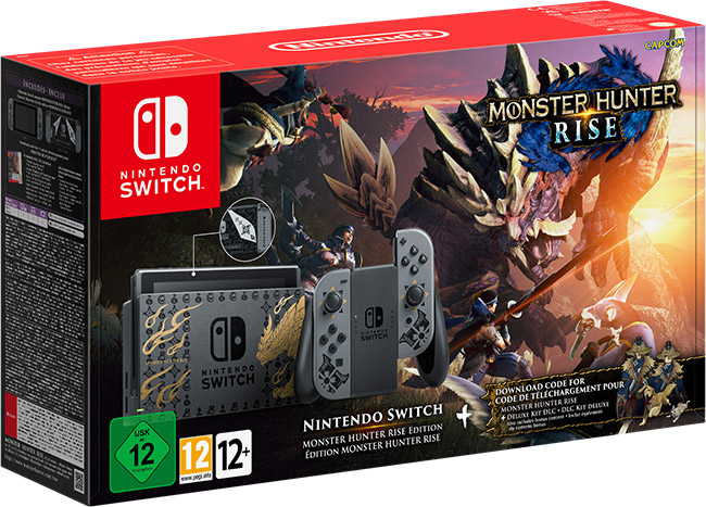 Специальные версии Nintendo Switch и контроллера Switch Pro выйдут 26 марта вместе с Monster Hunter Rise