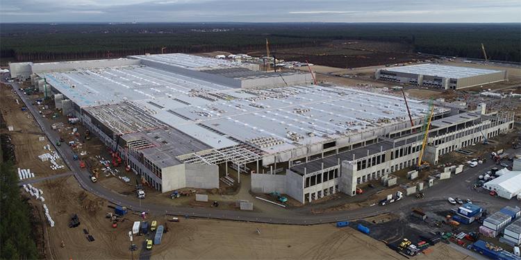 Строительство завода Tesla в Берлине
