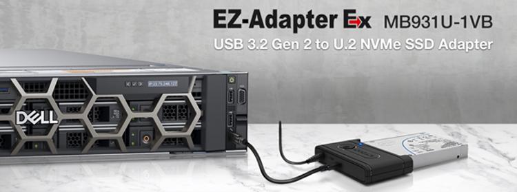 Новый адаптер Icy Dock превратит накопитель U.2 NVMe во внешний SSD