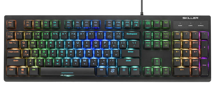 Представлена механическая клавиатура Sharkoon Skiller SGK30 с RGB-подсветкой
