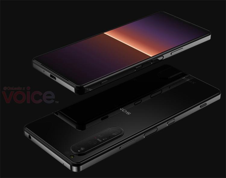 Смартфон Sony Xperia 1 III с экраном 4К предстал на рендерах