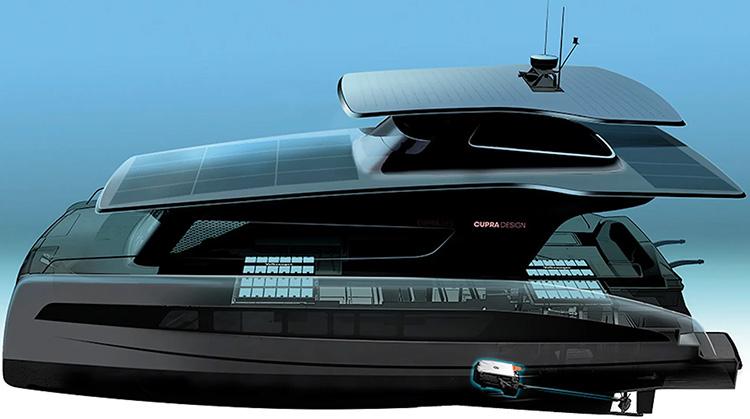 Так будет выглядеть яхта Silent Yachts с дизайном от VM CUPRA и платформой MEB
