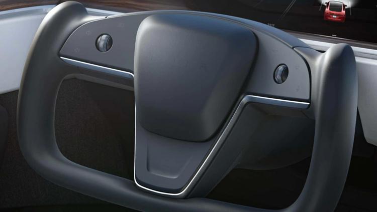 Штурвал обновлённого электромобиля Tesla Model S вызвал вопросы безопасности