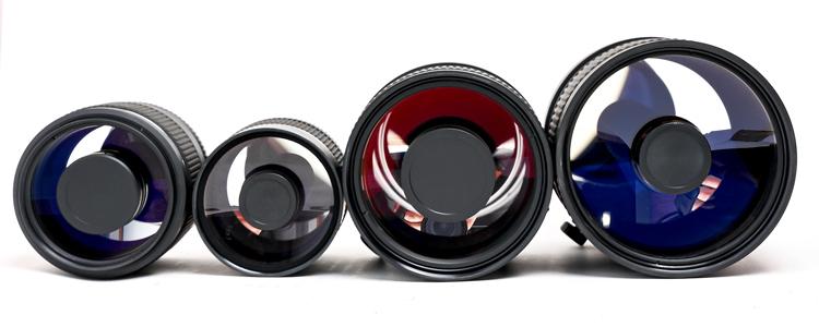 Четыре зеркально-линзовых объектива пополнили серию «Рубинар»