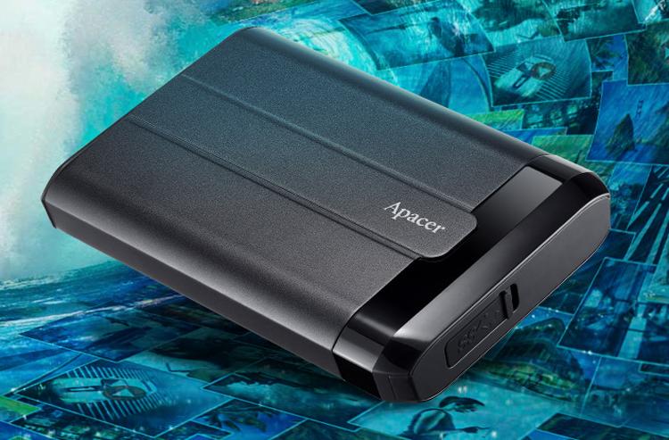 Представлен портативный жёсткий диск Apacer AC732 с защитой от воды, падений и ударов