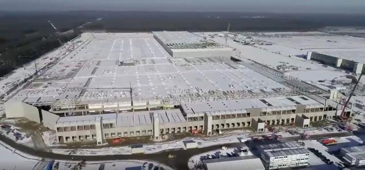 Tesla показала, насколько сильно продвинулось строительство огромного завода под Берлином