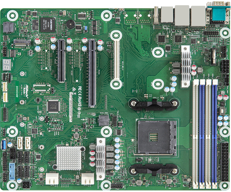ASRock Rack B550D4M server board is designed for AMD Ryzen 5000 desktop chips