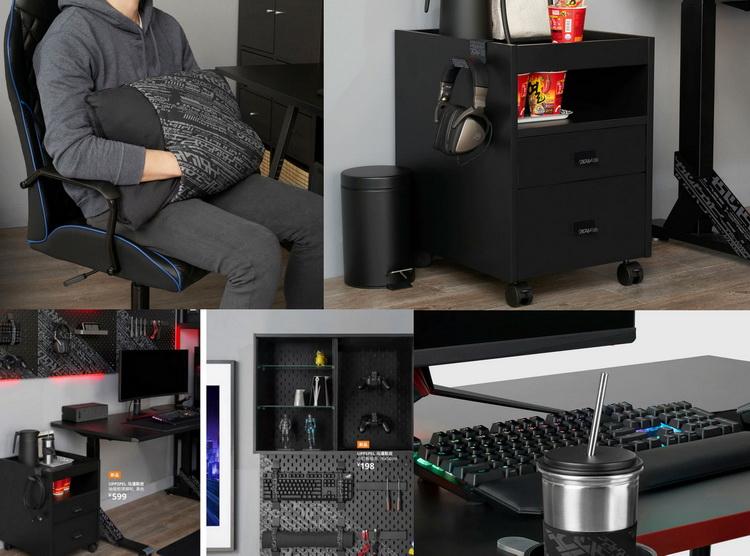 IKEA вместе с ASUS ROG представила различную мебель и аксессуары для геймеров. Купить можно будет в октябре