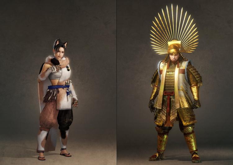 Sohaya Deserter Garb (слева) и Ornate Gold Armor (справа)