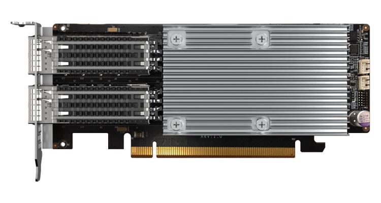 QNAP представила сетевой адаптер QXG-100G2SF-E810 с двумя портами 100GbE / ServerNews
