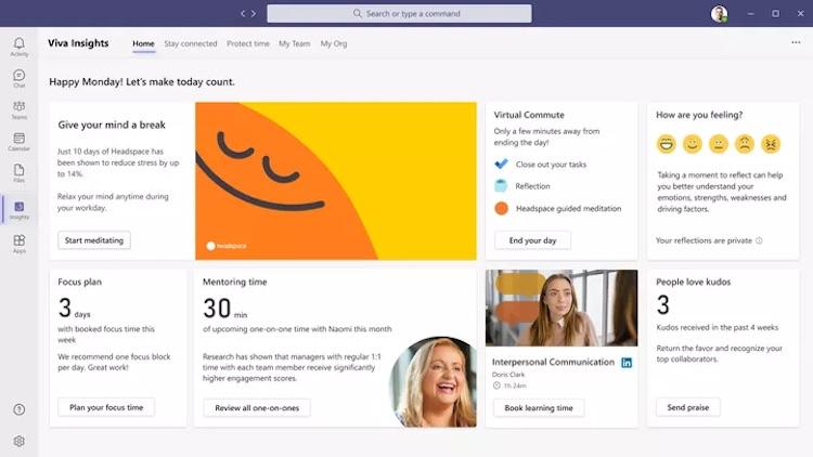 Microsoft запустила цифровую платформу Viva для организации удалённой работы