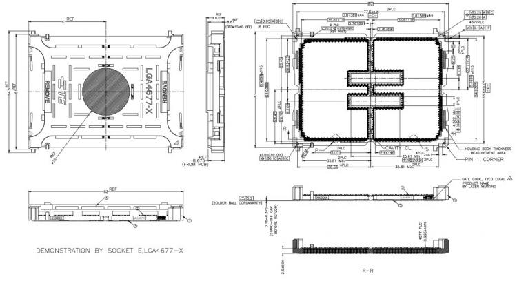 Схема разъёма Intel LGA4677-X