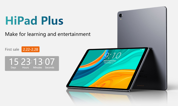 CHUWI представила Android-планшет Hipad Plus с 11-дюймовым 2K-дисплеем""