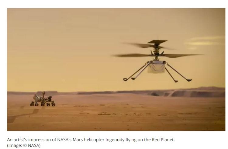 Марсианский вертолёт-разведчик «Изобретательность»
