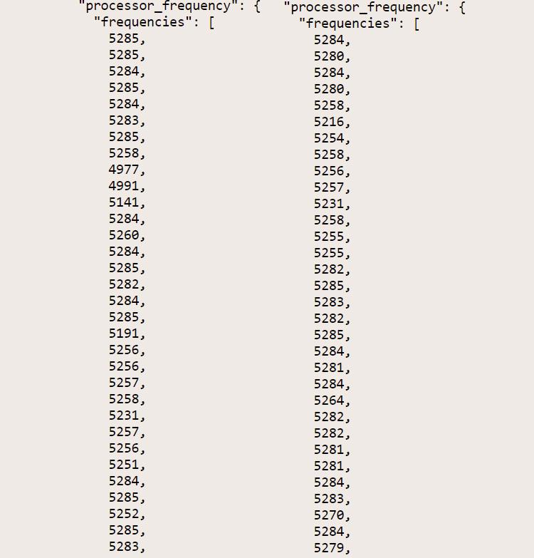 Частоты Intel Core i9-11900K, источник (Geekbench)