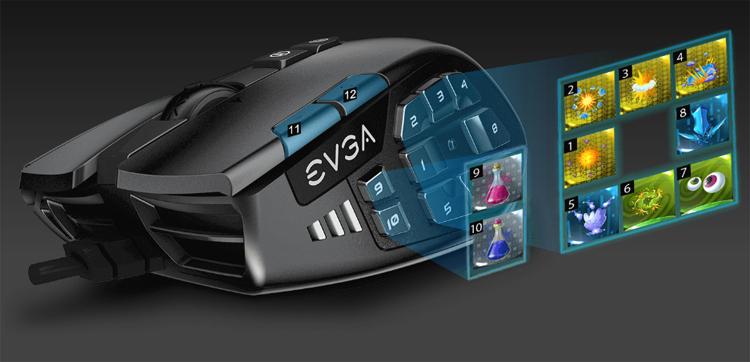 """Мышь EVGA X15 с подсветкой RGB адресована любителям MMO-игр"""""""