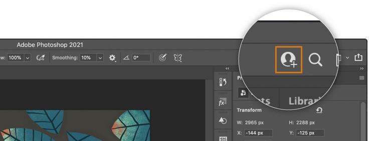 В Photoshop, Illustrator и Fresco появилась возможность совместной работы над файлами в облаке