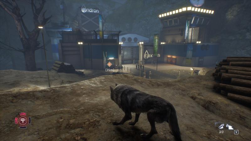 Лагерь оборотней находится всего в паре десятков метров от «цитадели зла», в которую герой неоднократно вторгается в ходе игры. Удобно!