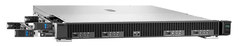 HPE Edgeline EL4000: слева видны частично выдвинутые вычислительные узлы