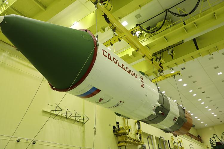 """Роскосмос показал ракету «Союз-2.1а» с кораблём «Прогресс МС-16», который скоро отправится к МКС"""""""