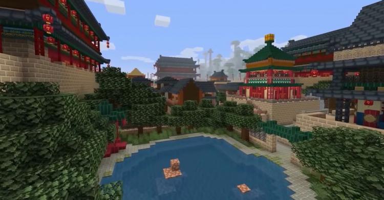 Набор скинов и карта с храмами: в честь наступающего китайского Нового года в Minecraft добавили тематический контент