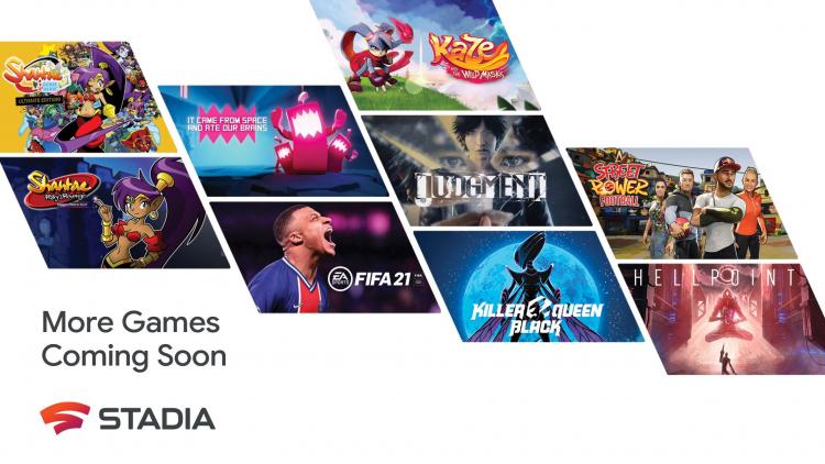 Google выпустит в Stadia 100 игр до конца 2021 года