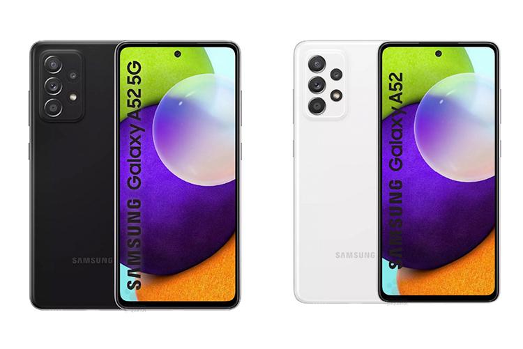 Семейство Samsung Galaxy A52 в представлении художника. Рендеры созданы на основе утечек чертежей.