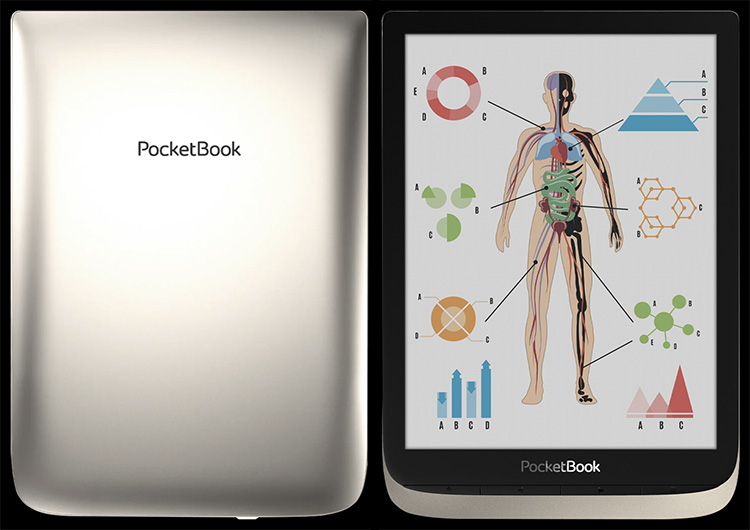 PocketBook представила 7,8-дюймовую электронную книгу с цветным экраном E Ink нового типа