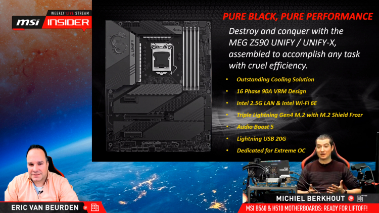 "MSI представила платы MEG Z590 Unify и Unify-X для разгона Rocket Lake-S. Они полностью лишены RGB-подсветки"""